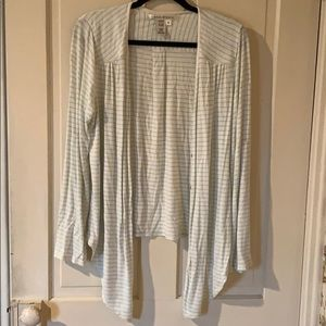 Striped light weight cardigan